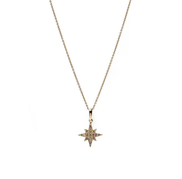 estrea necklace - 14k & diamonds