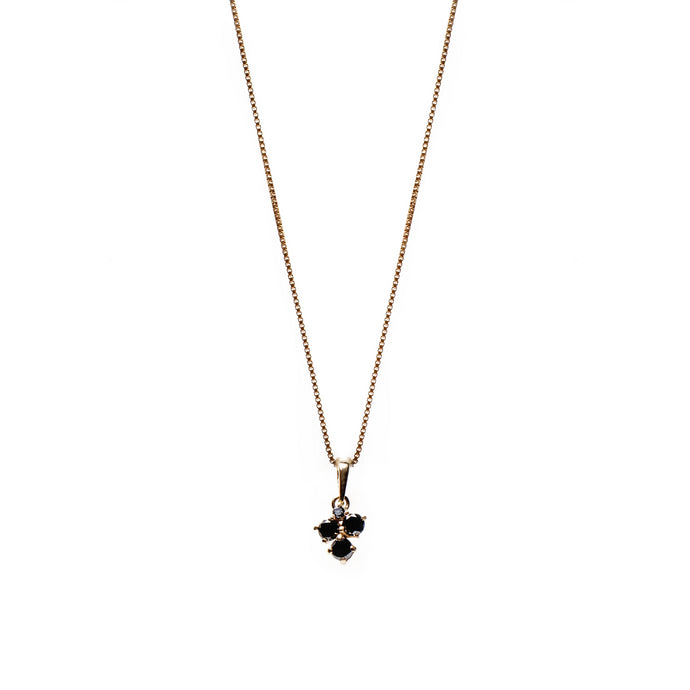 tyllis necklace - 14k & black diamonds