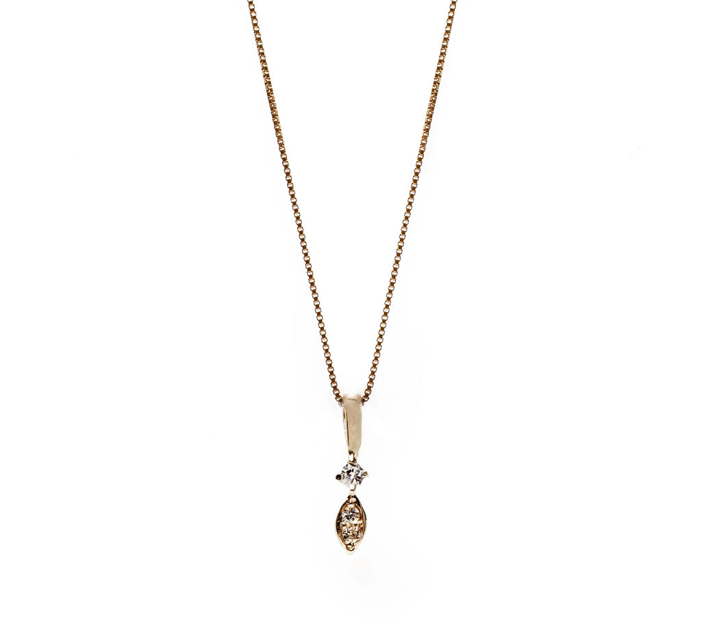 vega necklace - 14k & diamonds