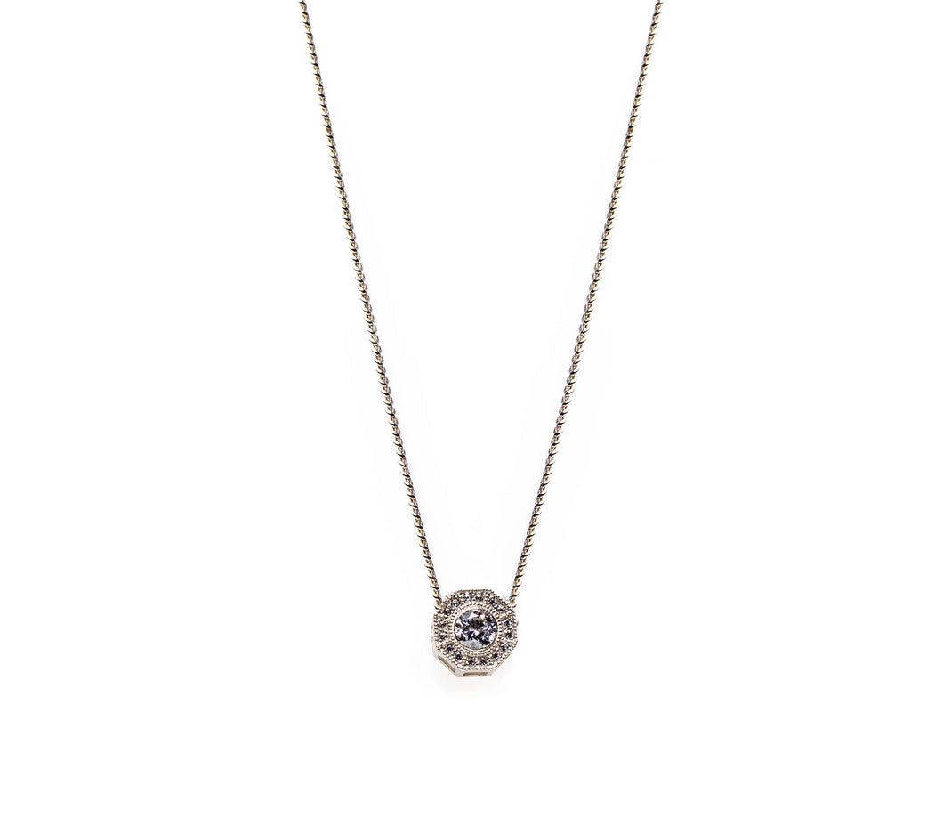 salomé necklace - 14k & diamonds