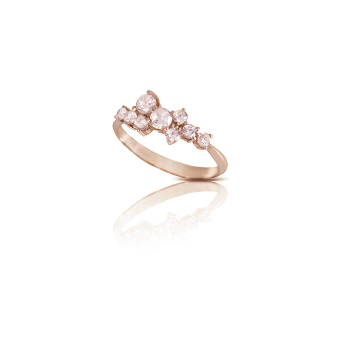 sophia - a symmetric diamond ring