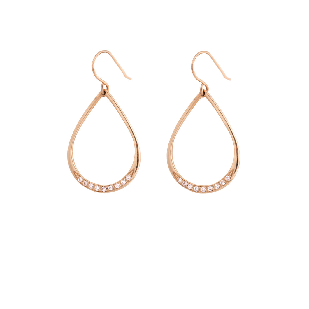 drew - gold plated dangle earring