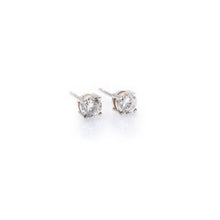 Load image into Gallery viewer, ella - 14k & diamond earrings