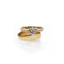 Load image into Gallery viewer, jeanne - 14k gold & diamond ring