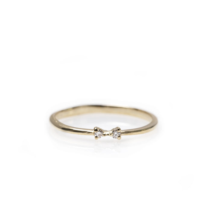 papillon - 14k & diamond ring