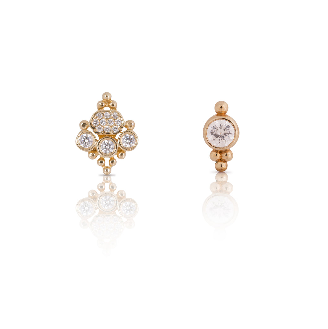 sara lee -  gold plated hand made earring