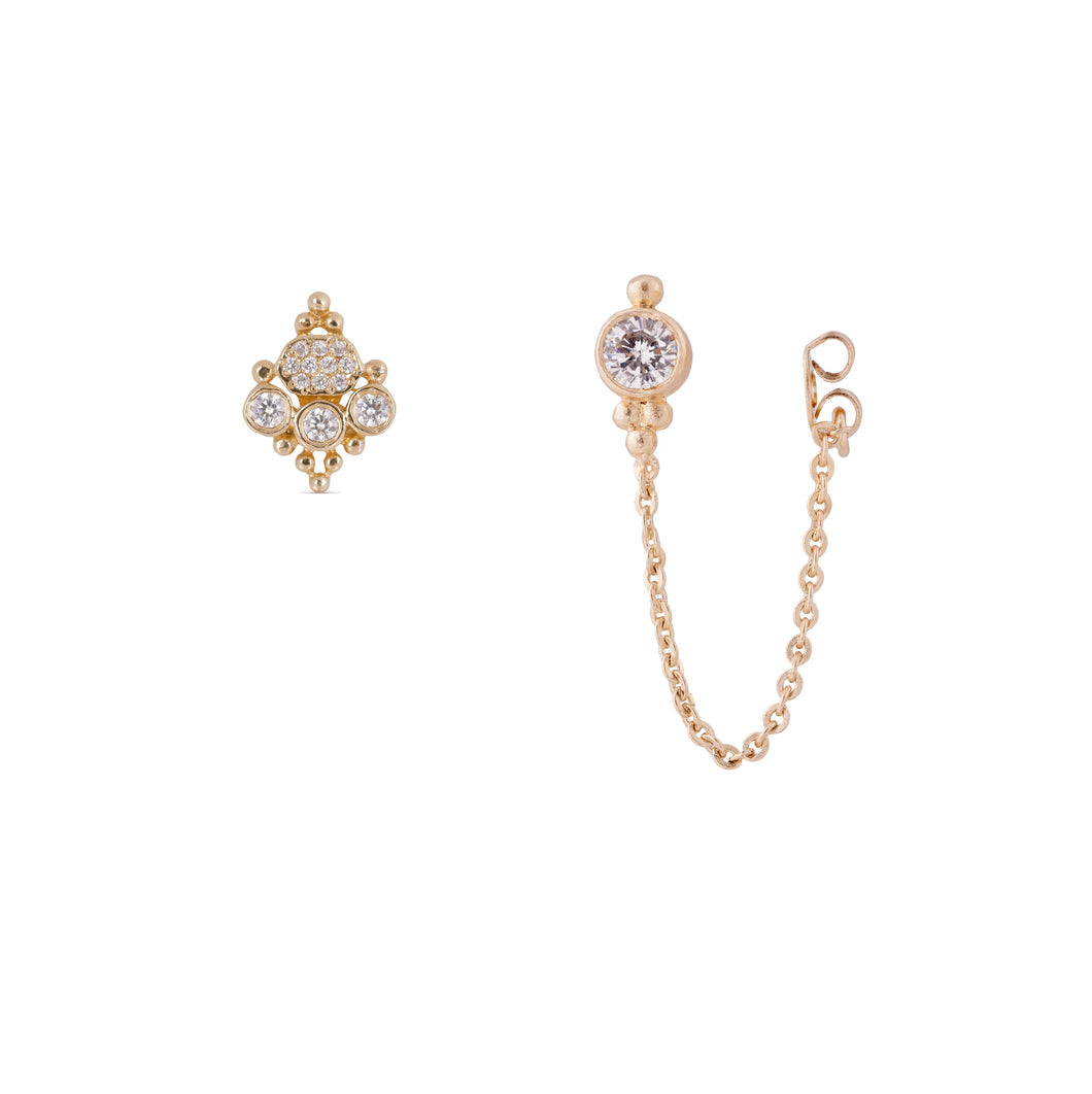 sara lee -  14k & diamonds earring