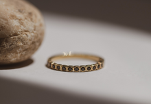 Load image into Gallery viewer, claude - black diamond eternity ring