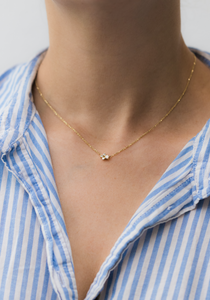 quatro necklace - 14k & diamonds