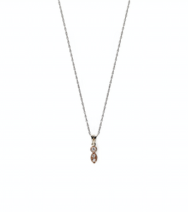 mila - 14k gold & diamond necklace