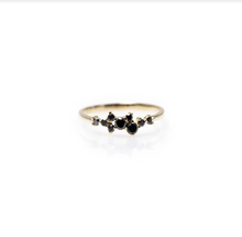 Load image into Gallery viewer, Milou - a symmetric black diamond ring