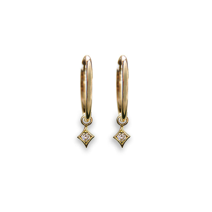 tamara dangling diamond hoop earrings