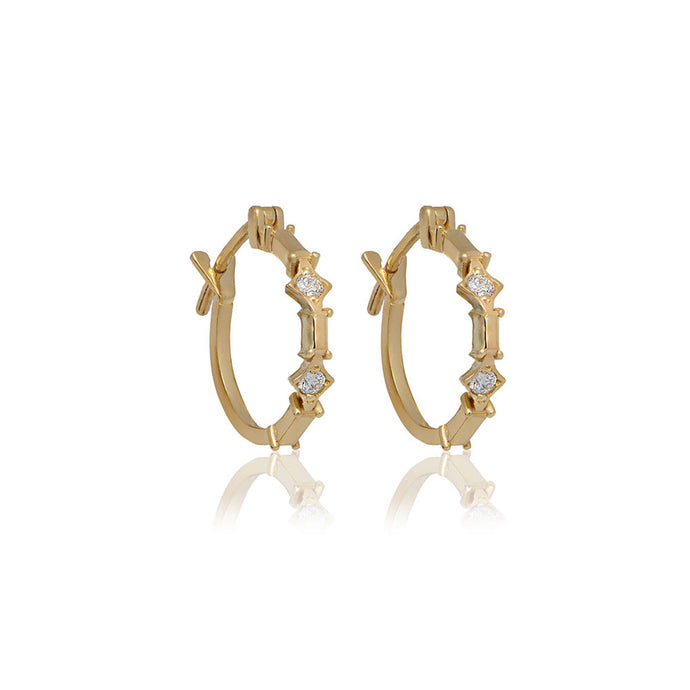 marcel M circle earrings