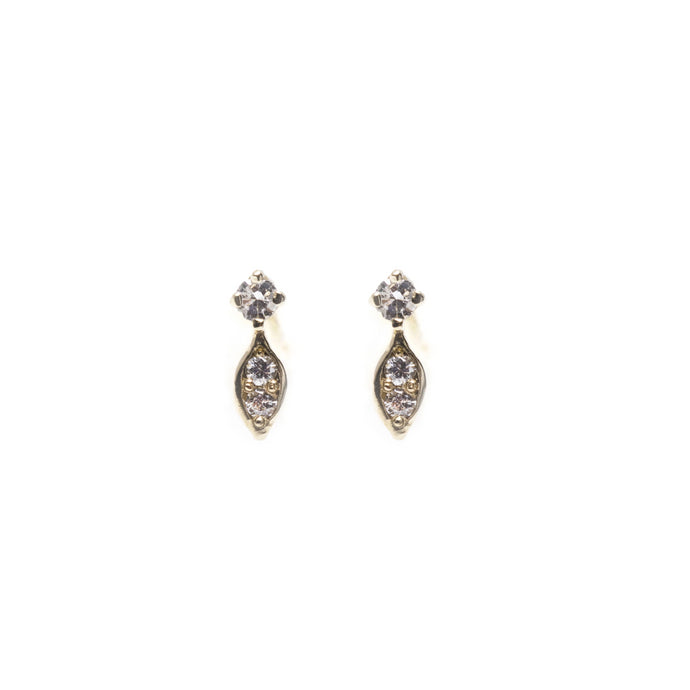 vega - 14k gold & diamond earrings
