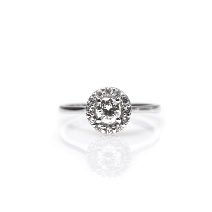 vered - halo diamond ring