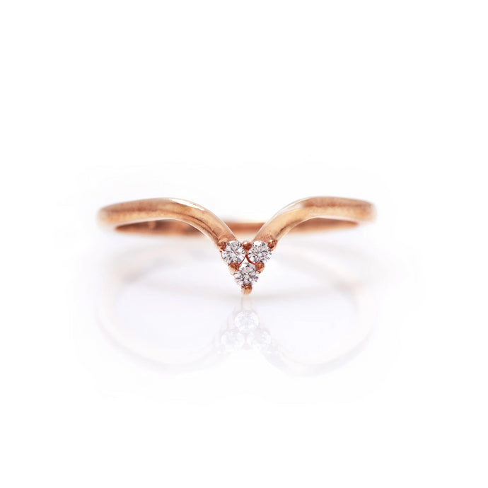 veronica - 14k & diamond ring