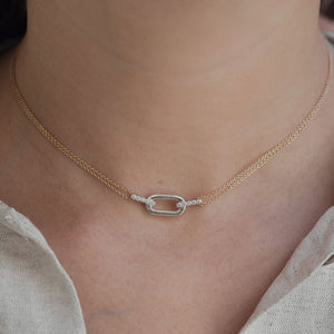 chain link diamond necklace
