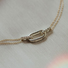 Load image into Gallery viewer, chain link diamond necklace