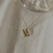 Load image into Gallery viewer, initial gold & diamonds necklace