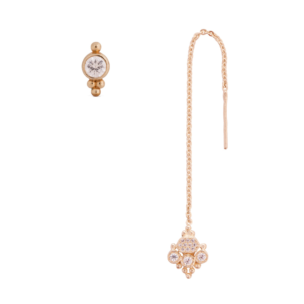 lee sara -  14k & diamonds earring