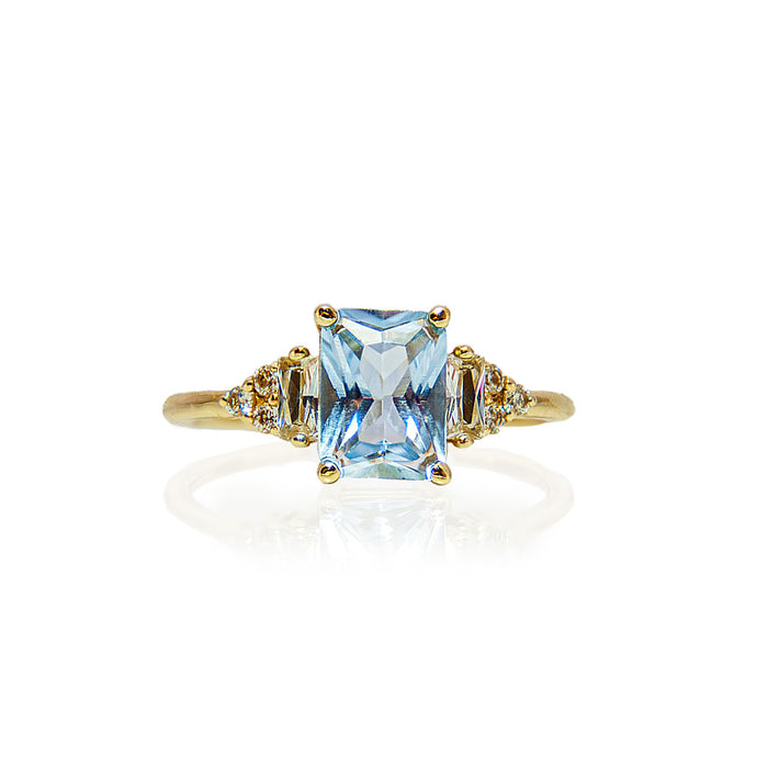 érte aquamarine & diamonds ring