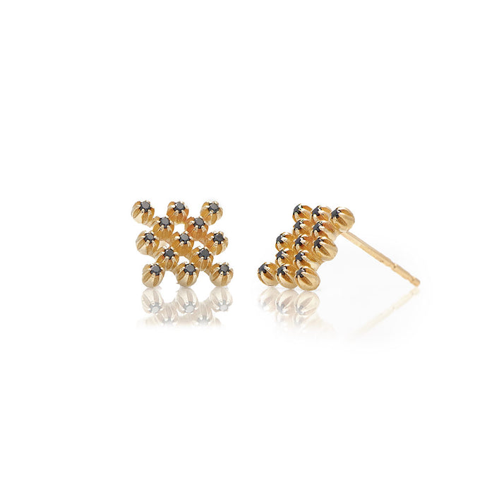 hive black diamond earrings