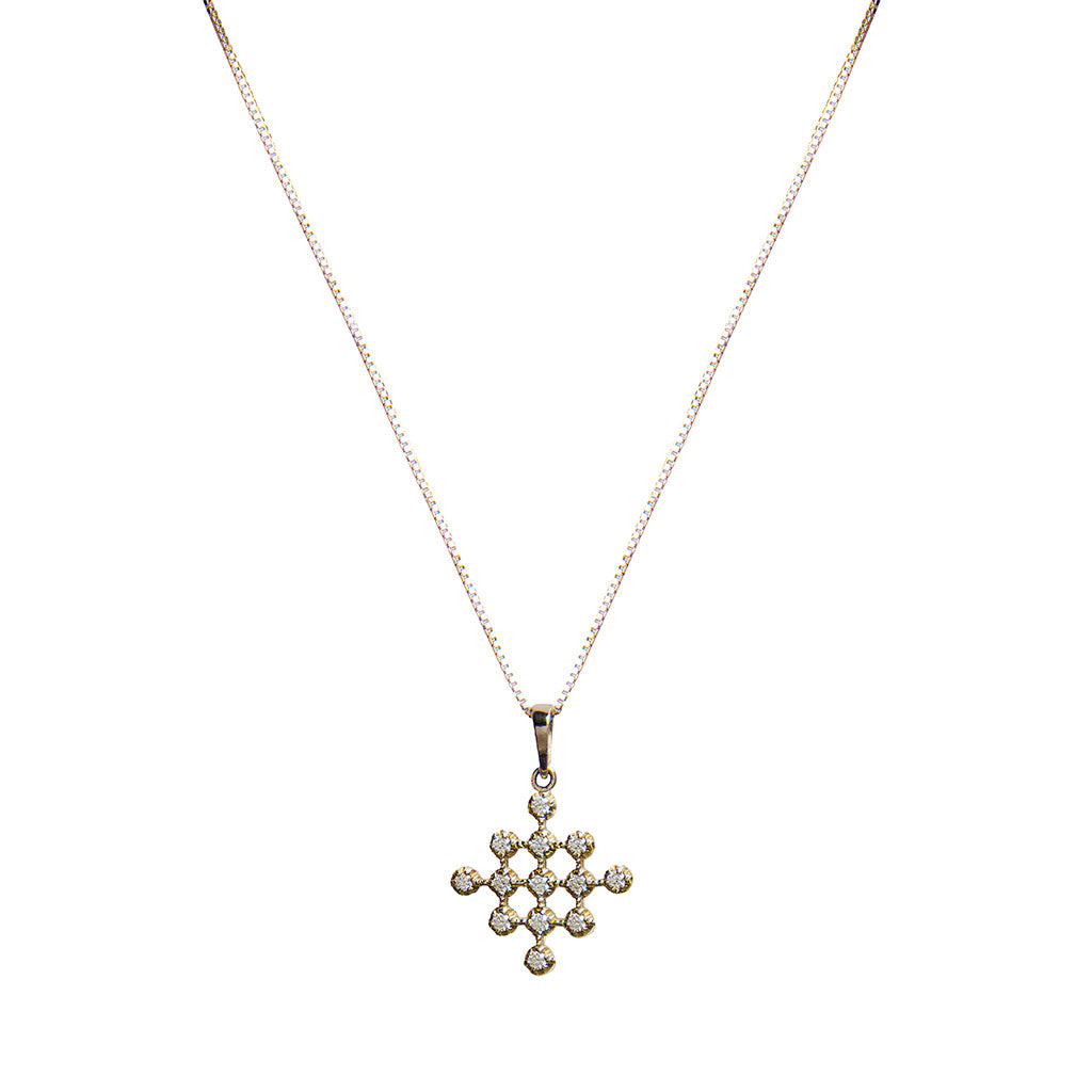 hive diamond necklace