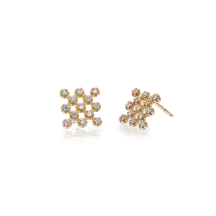 hive diamond earrings