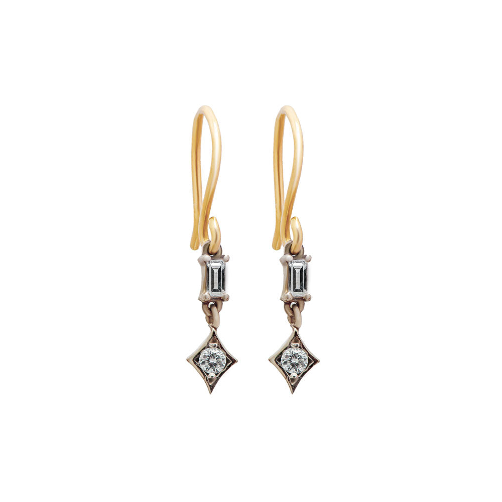 albert diamond dangle earrings