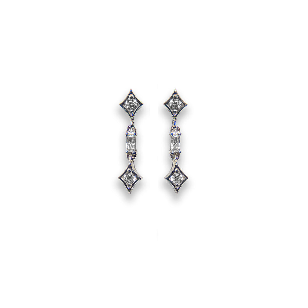 andré short cascade diamond earrings