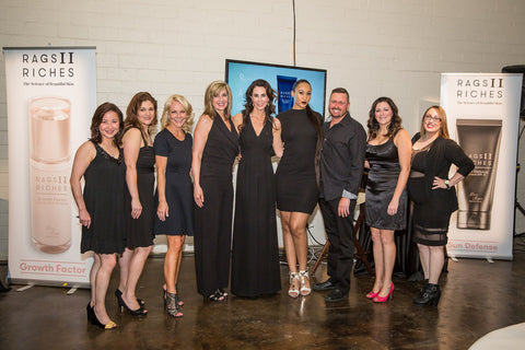 Marie Reyes and the SkinSpaMED Team at 2016 RAGS II Riches Dallas Launch Party