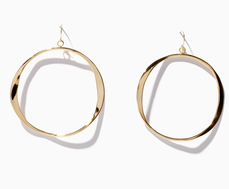 Large Classic Wave Hoops
