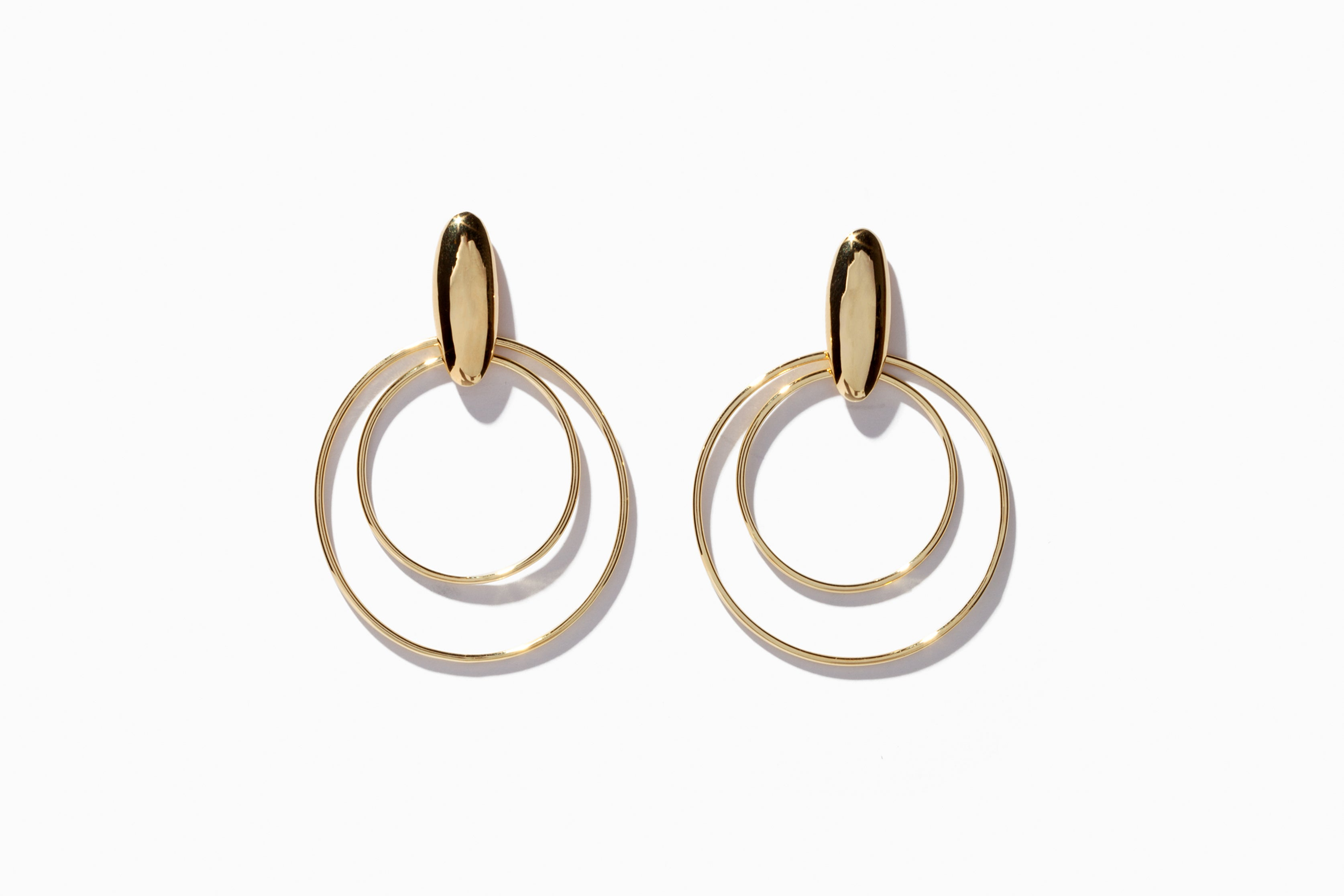 Oval Dome Double Hoops