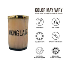 Load image into Gallery viewer, Asjad Mug Viking Lair - 3oz Drinking Horn Whiskey Shot Glass