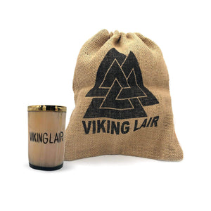 Asjad Mug Viking Lair - 3oz Drinking Horn Whiskey Shot Glass