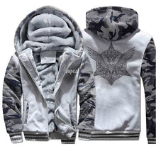 Load image into Gallery viewer, Viking Raven Tattoo Camo Sweatshirt + Hoodie