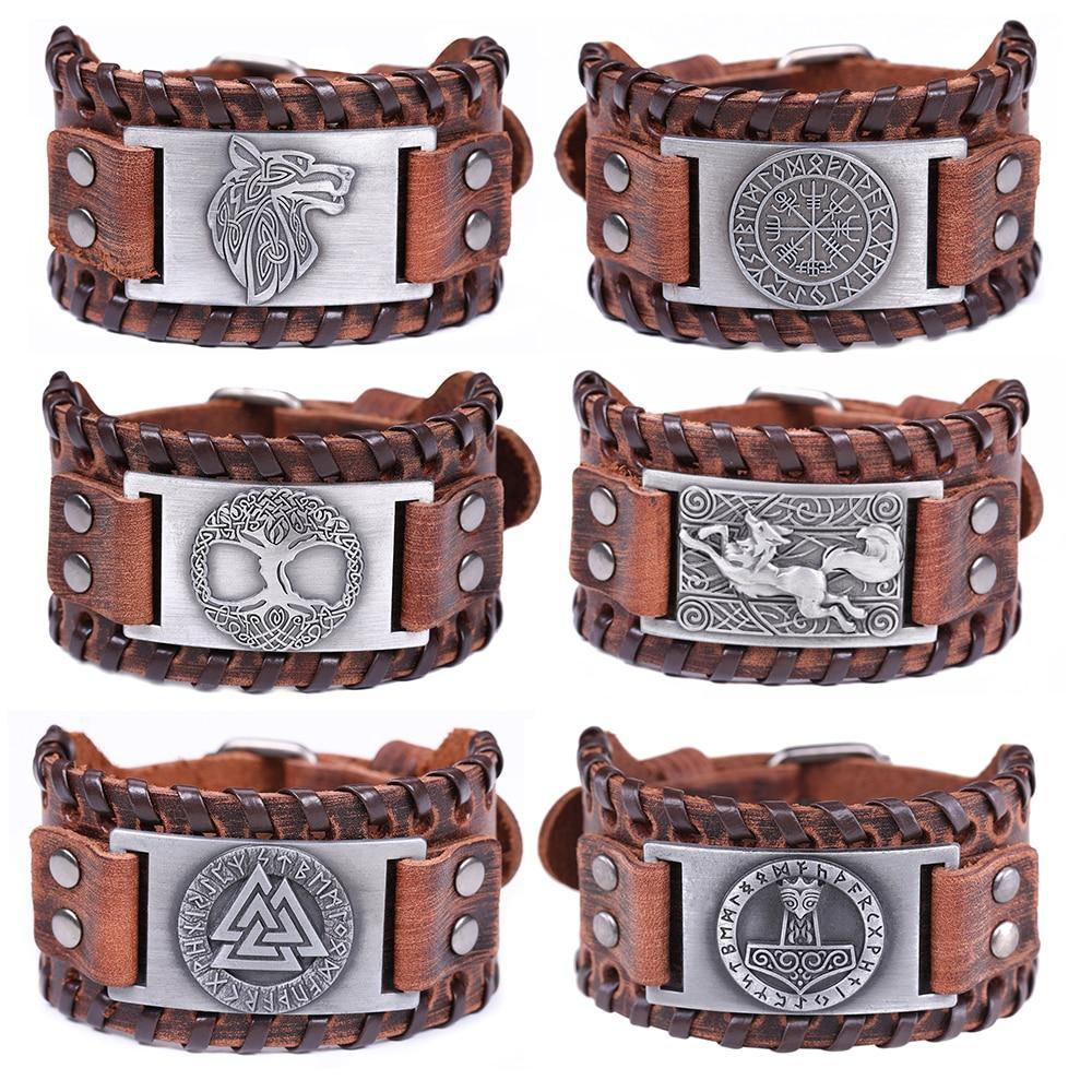Genuine Viking Leather Bracelet