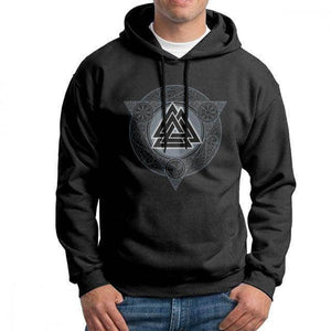 VIKING LAIR Black / M(US)/2XL Man Valknut Ice Flame Hoodies