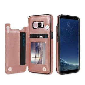 VIKING LAIR For Galaxy S10 Plus / Rose Gold Viking Lair - Leather Phone Case w/ Backside Wallet for Samsung Galaxy Series