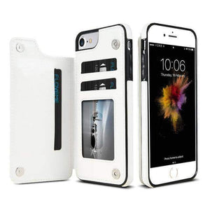 VIKING LAIR For iPhone 8 / White Viking Lair - Leather Phone Case w/ Backside Wallet for iPhone
