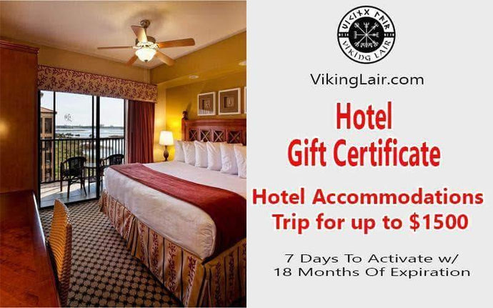 VIKING LAIR FREE $1500 Worth of Hotel Accommodation Gift Certificate