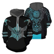 Load image into Gallery viewer, VIKING LAIR hoodies / XL Viking Style 4 Tattoo Hoodie 3D Printed Hoodie + Sweatshirt