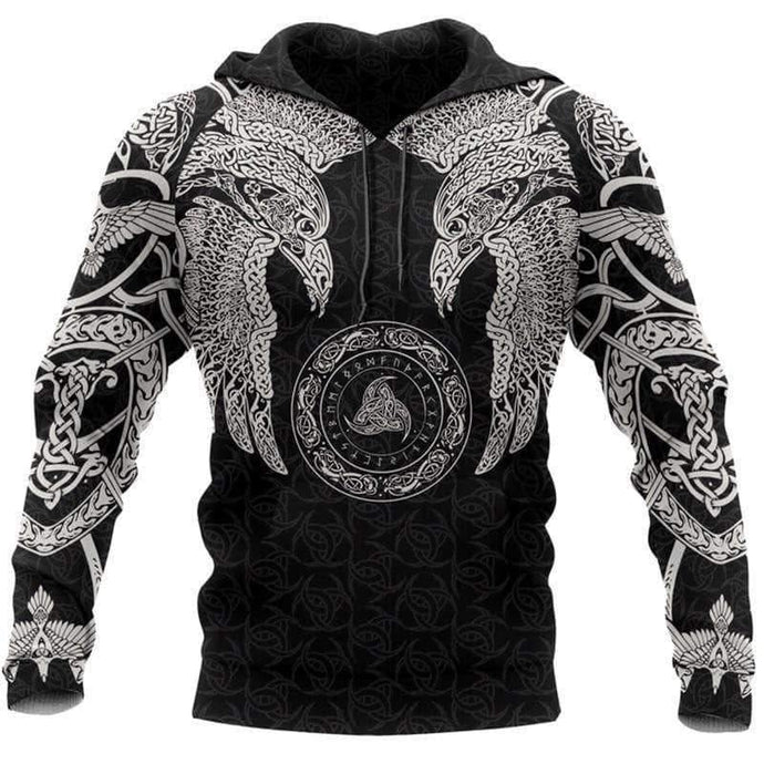 VIKING LAIR Huginn and Muninn - 3D Printed Viking Tattoo Tracksuit