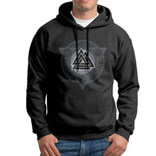 Load image into Gallery viewer, VIKING LAIR Man Valknut Ice Flame Hoodies