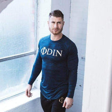 Load image into Gallery viewer, VIKING LAIR Odin Casual Slim Fit Gym Tee (BLUE)