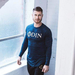 VIKING LAIR Odin Casual Slim Fit Gym Tee (BLUE)