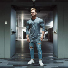 Load image into Gallery viewer, VIKING LAIR Odin Casual Slim Fit Gym Tee (GREY)