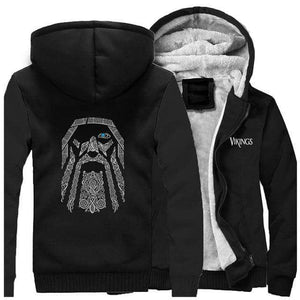 VIKING LAIR Sweatshirt Black / XL (US) Viking Odin Sweatshirt + Hoodie