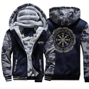VIKING LAIR Sweatshirt Dark Blue 6 / M Viking Thick Camo Winter Men Sweatshirt + Hoodie