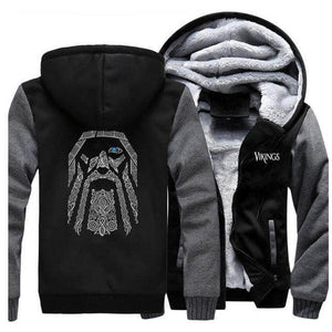 VIKING LAIR Sweatshirt Dark Gray Black / 2XL (US) Viking Odin Sweatshirt + Hoodie